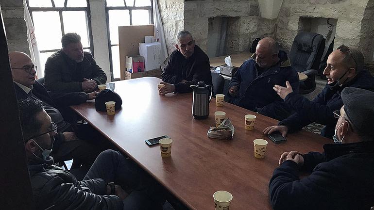 وفد من جمعية الإحسان في زيارة لمركز بلدي